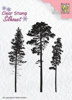 Nellies Choice Clearstamp - 3 Pinetrees
