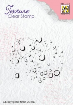 Nellie`s Choice Clearstamp - Raindrops