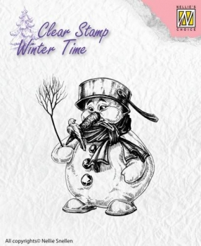 Nellies Choice Clearstamp - Snowman