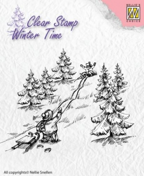 Nellies Choice Clearstamp - Sledge Fun