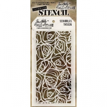 Tim Holtz Layering Stencil -Scribbles
