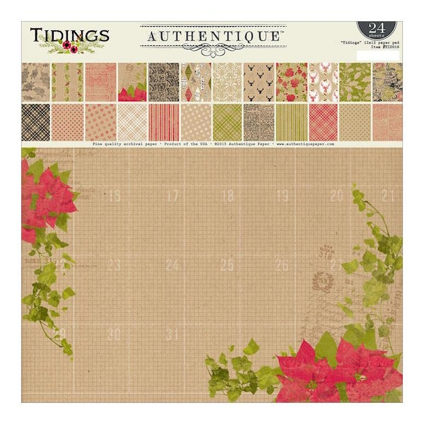 Authentique Paper Pad - Tidings - 12 x 12