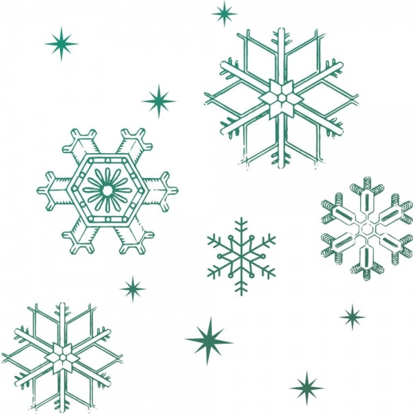 Couture Creations - Naughty or Nice Clear Stamp - Snowflakes
