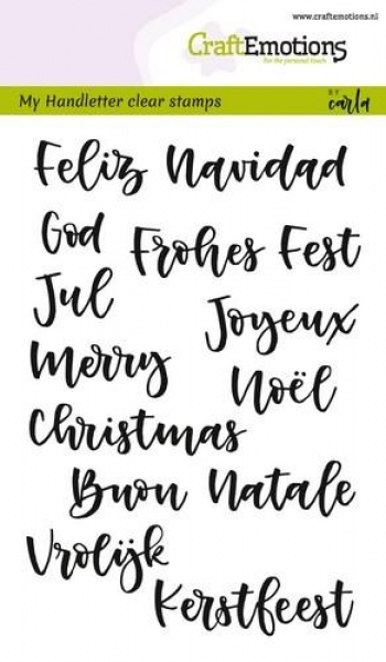 Craft Emotions Clear Stamps - Christmas in 7 Languages
