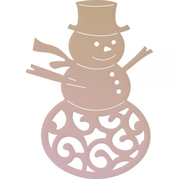 Couture Creations - Highland Christmas Mini Die - Filigree Snowman