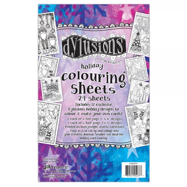 Dylusions Colouring Sheets - Holiday