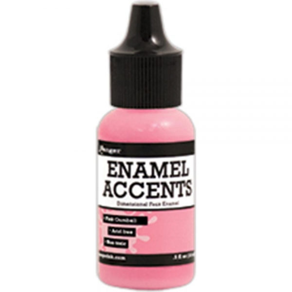 Enamel Accents - Pink Gumball