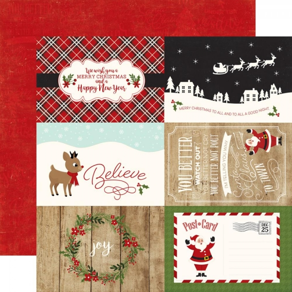 Echo Park - A Perfect Christmas - 4 x 6 Journaling Cards 12""