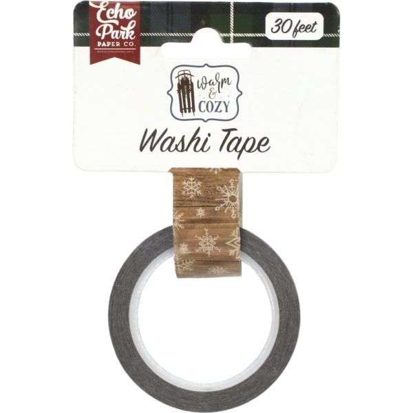 Echo Park Washi Tape - Winter Woodgrain