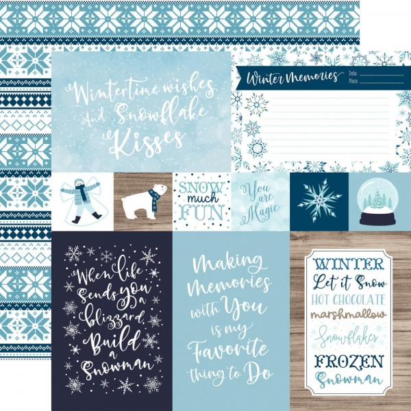 "Echo Park Winter Magic - 4 x 6 Journaling Cards 12"" x 12"""