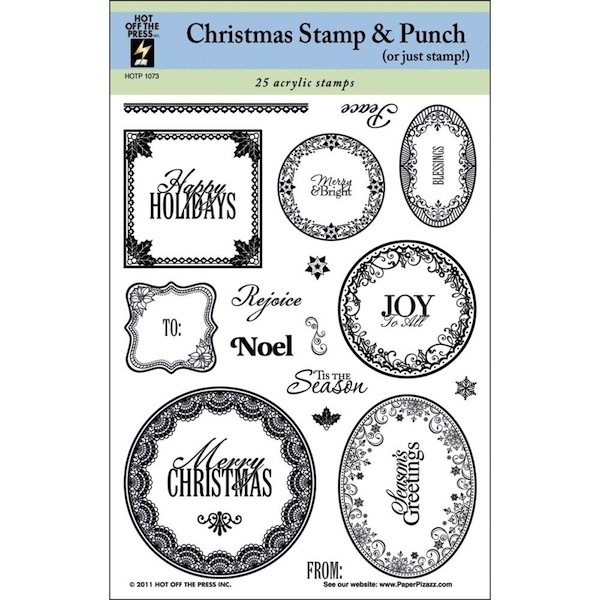 Hot Off The Press - Christmas Stamp & Punch 25 Stck.