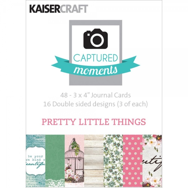 "Kaisercraft Captured Moments - 3"" x 4"" Journaling Cards - Pretty Little Things"