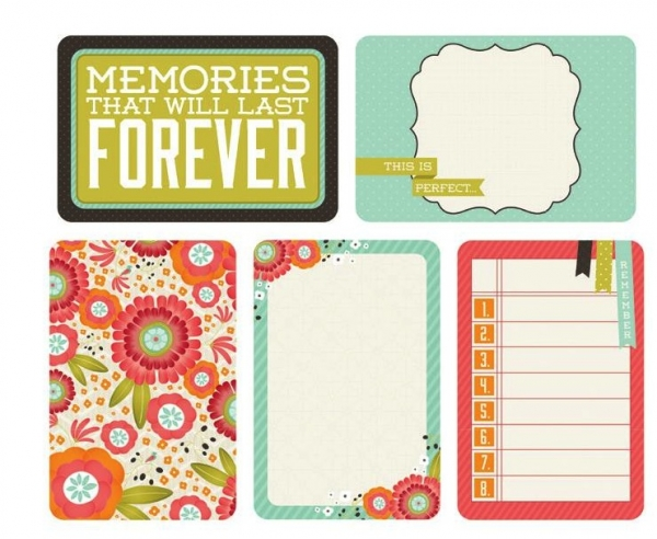 "Kaisercraft Captured Moments - 4"" x 6"" Journaling Cards - Favourite Things"