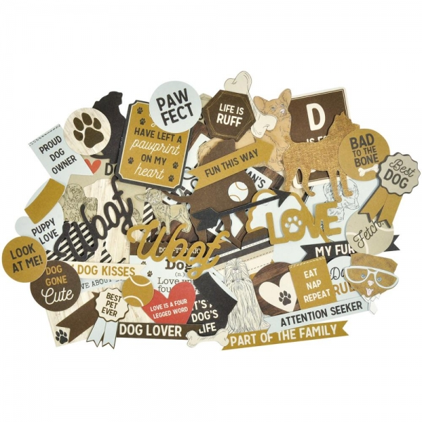 KAISERCRAFT COLLECTABLES - Die-Cuts Shapes - Pawfect - Dog