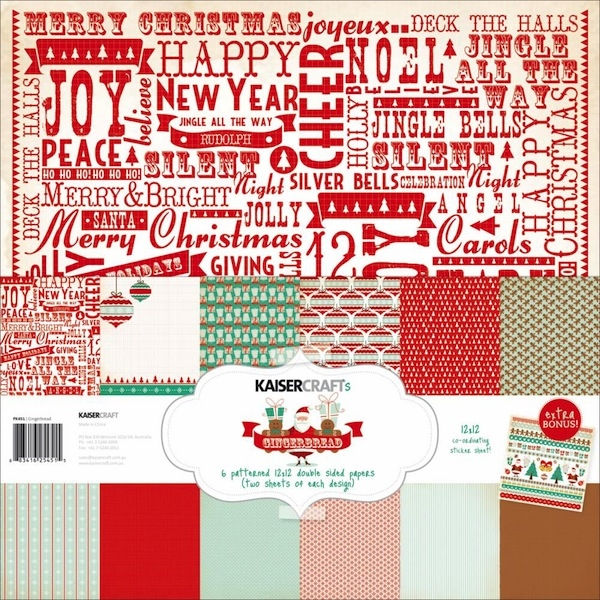 "Kaisercraft Paper Pack - Gingerbread 12"" x 12"""