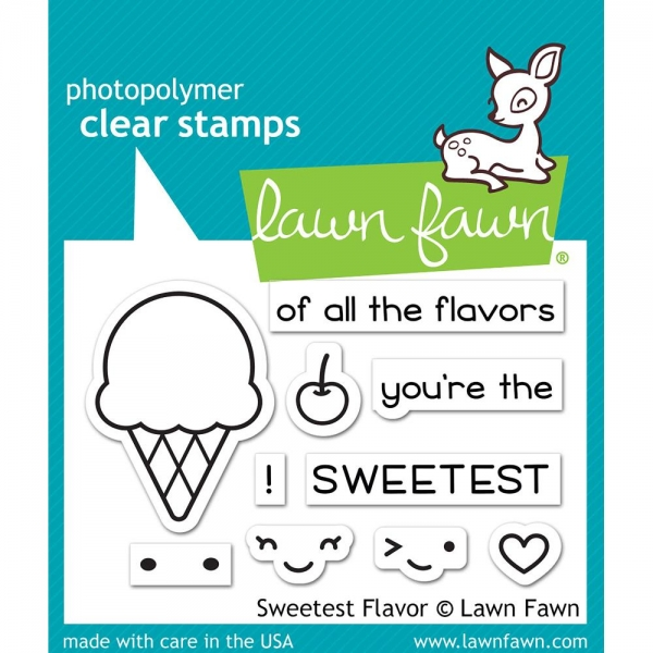 Lawn Fawn Clear Stamps - Sweetest Flavor