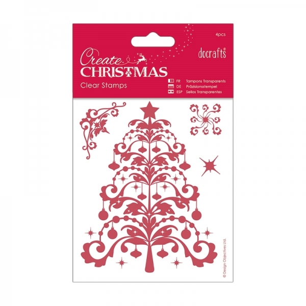 Papermania Mini Clear Stamp Set - Christmas Tree - 4 stck.