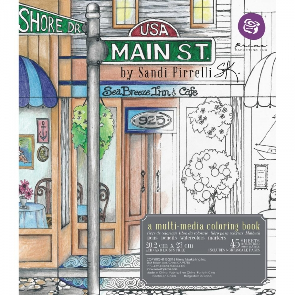 Prima Marketing Coloring Book - Main Street