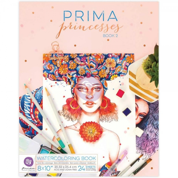 Prima Marketing Watercoloring Book - Princesses Book 2