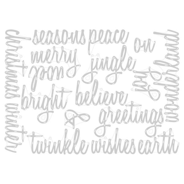 Sizzix Tim Holtz DIE Set - Holiday Words: Script