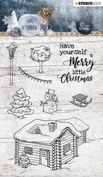 Studio Light Clear Stamps - Snowy Afternoon - Have yoursel a Merry little Christmas
