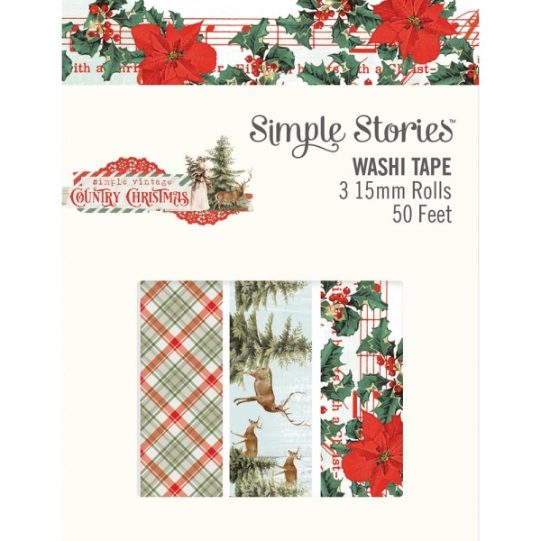 Simple Stories Washi Tape - Country Christmas
