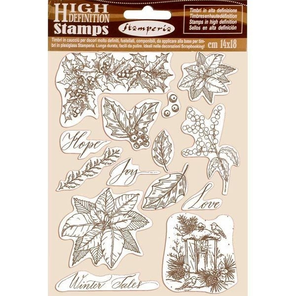 Stamperia High Definition Stamps - Poinsettia, Winter Tales