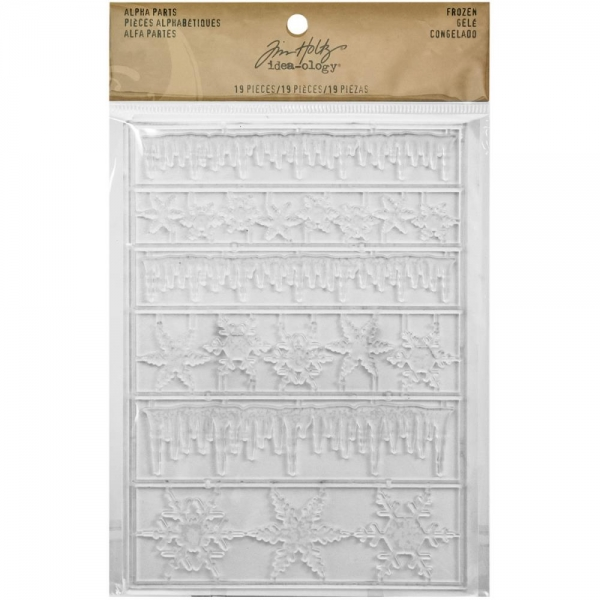 Tim Holtz - 19 Alpha Parts - Frozen