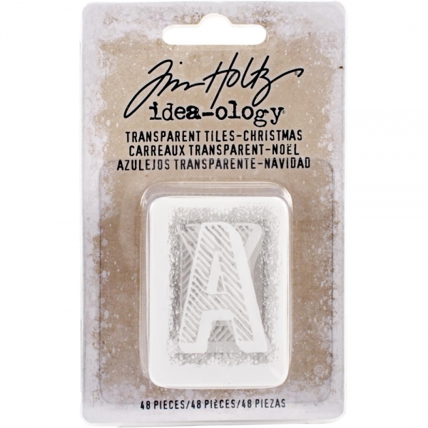 Tim Holtz Transparent Tiles - Christmas