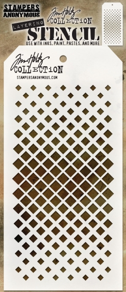 Tim Holtz Layering Stencil - Gradient Square