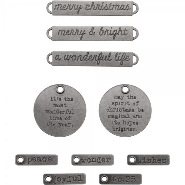 Tim Holtz - Adornments - Christmas Words