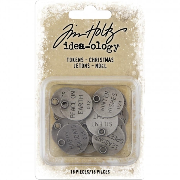 Tim Holtz - Muse Tokens - Christmas 18 Stk.
