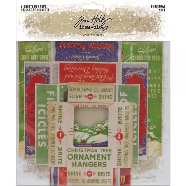Tim Holtz Vignette Box Tops - Christmas #2