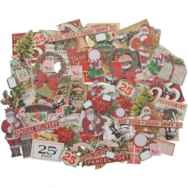 Tim Holtz Ephemera Pack - Christmas Snipets #2