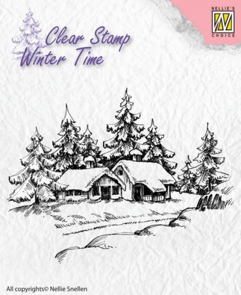 Nellies Choice Clearstamp - Wintery House