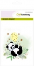 Craft Emotions Clear Stamps - Panda