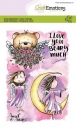 Craft Emotions Clear Stamps - Angel & Bear 2