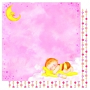 "Doublesided Paper ""Sleeping Baby Girl/ Kette"""