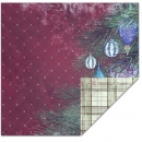 "Beatrix Rose Doublesided Paper ""Christmas Glitter Balls 1"""