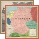 "Carta Bella Cartography No.2 - Germany 12"" x 12"""