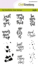 Craft Emotions Clear Stamps - Miscellaneous