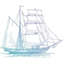 Couture Creations - MEN`S STAMP - Hatched Tallship