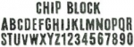Sizzix Tim Holtz- Chip Block Alphabet