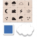 Hero Arts Stempel Set - Weather Icons Mini Tub