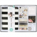 Heidi Swapp Memory Planner Kit - Black & White With Gold