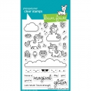 Lawn Fawn Clear Stamps - Unicorn Picnic