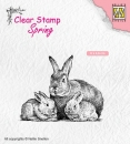 Nellies Choice Clearstamp - Hasen Familie