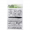 Picket Fence Clear Stamps - Have A Waonderful Winter Day
