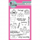 Pink and Main Clearstamps - Sticky Note