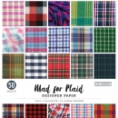 Colorbök Designer Paper Pad - Mad for Plaid - 12 x 12